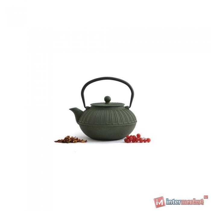 Чугунный чайник Studio Темно-зеленый 1,5л 1107120