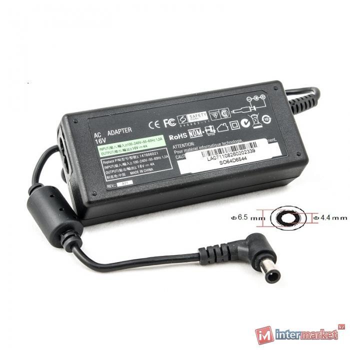Блок питания для ноутбуков PowerPlant SONY 220V, 16V 64W 4A (6.54.4)