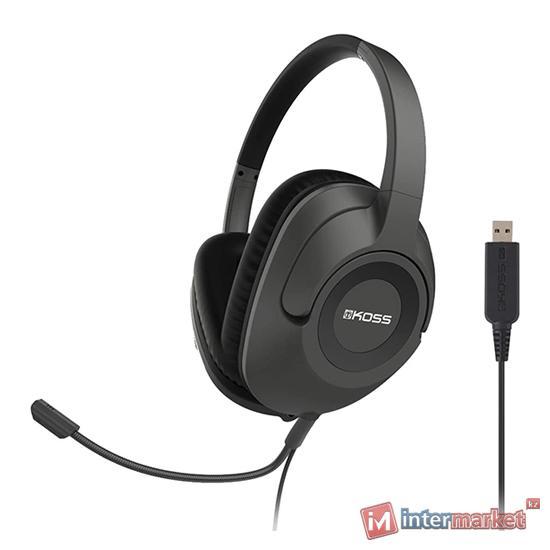 Гарнитура Koss SB42-USB, 120ohm, 20-20000Hz, 100dB, 2.4m cable, black