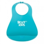 Нагрудник Roxy Kids мягкий с карманом для крошек RB-402M Мятный